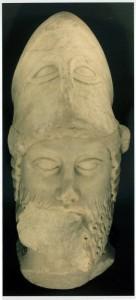 scultura in marmo raffigurante  il volto di Anassila.