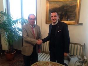 Basilio Rizzo, presidente cel consiglio comunale di Milano, con Orlandino Greco