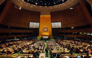 L'Assemblea generale dell'Onu è il più rappresentativo organo istituzionale dell'Organizzazione delle Nazioni Unite. È composto dai rappresentanti di tutti gli stati aderenti alle Nazioni Unite, ossia tutte le nazioni del mondo ad esclusione di alcune. La prima sessione si tenne il 10 gennaio 1946 nella Westminster Central Hall a Londra ed era composta dai rappresentanti di 51 Stati.