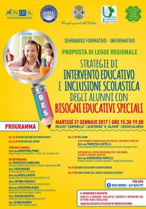 Locandina intervento educativo