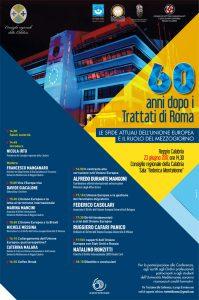 Locandina_60 anni dopo i Trattati di Roma_Reggio Calabria 23 giugno 2017