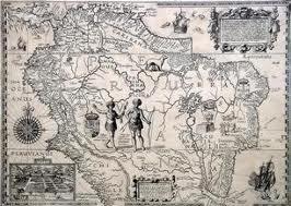 Una delle prime mappe geografiche del Sudamerica.