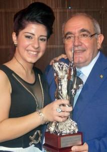 """Nino Romeo e Simona Barletta Vincitrice del """"Premio Mia Martini"""" 2014"""