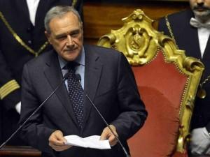 Il presidente del Senato Pietro Grasso.