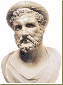 Per il suo Teorema, Pitagora ( il busto in   bronzo della foto è una  copia romana di un originale greco del IV secolo a.C., Napoli, Museo Archeologico Nazionale)  ebbe bisogno di 24 parole.
