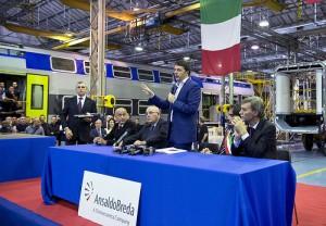 Renzi in visita allo stabilimanto di torre Lupo