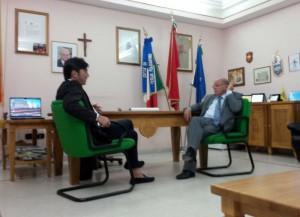 Il consigliere Arturo Bova durante un momento della visita a Petilia Policastro