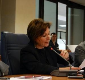 Zina Crocè in Consiglio regionale della Calabria nel marzo 2009.