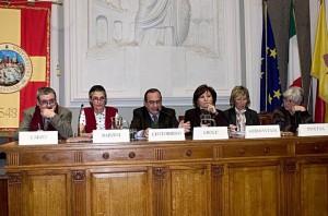 Zina Crocè all'Università di Messina, con - tra gli altri - Mario Centorrino, Benedetta Barzini e Marina Pivetta