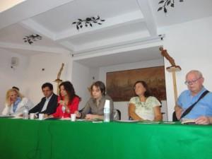 da sinistra: Rosita Borruto, Gianfranco Cordì, Rosaria Catanoso, Francesca Saffioti, Emilia Serranò Degli Espositi e Franco Iaria
