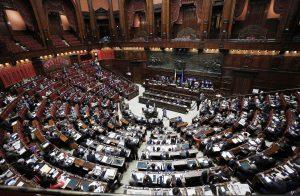Aula della Camera durante l'esame del ddl sulle Citta' Metropolitane e Province, Roma 03 Aprile 2014. ANSA/GIUSEPPE LAMI