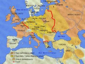Divisione politica dell'Europa prima dell'inizia della guerra