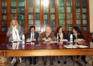 tavola rotonda di filosofia. Da sinistra: Rosita Lorelay Borruto, Gianfranco Cordi', Emilia Serranò Degli Espositi, Rosaria Catanoso.